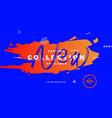 new fashion collection orange brush vector image