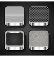 Set of metal ios icons vector image