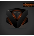 abstract black 3d cube vector image