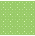 Tile spring green pattern with white polka dots vector image vector image
