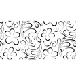 floral seamless background Black pattern on a vector image vector image