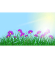 Meadow color background vector image vector image