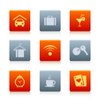 07 square hotel icons vector image vector image