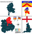 Staffordshire West Midlands vector image