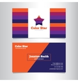 bright creative business card template with vector image