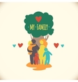 Happy family icon multicolored in simple figures vector image