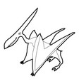pterodactyl icon outline vector image