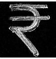 Rupee sign on chalkboard vector image