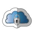 sticker metallic cloud tridimensional in cumulus vector image