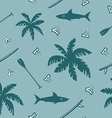 surfing seamless pattern vector image