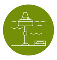 wave energy station icon in thin line style vector image