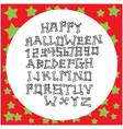 white bones uppercase alphabet vector image