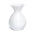 White vase isolated on a white background vector image