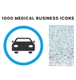 Car Icon with 1000 Medical Business Symbols vector image