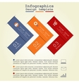 Infographics with paper arrows vector image