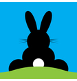 sitting back Easter bunny vector image
