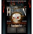 Halloween Horror Party flyer vector image vector image