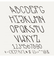 English hand-drawn alphabet of capital letters vector image