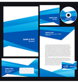 abstract creative corporate identity triagle vector image