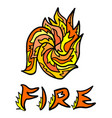 abstract fire symbol vector image