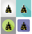 halloween flat icons 05 vector image