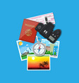 photo camera and photos travel concept vector image