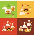 Pizza Order and Making Icon vector image