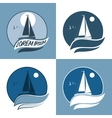 sailing boat sail in the vector image