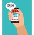 store shop online mobile design vector image