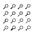 Magnifying glass magnifier zoom search find vector image vector image