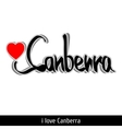 Canberra greetings hand lettering Calligraphy vector image vector image