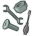 objects for screw vector image vector image