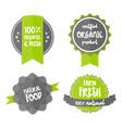 fresh organic label farm eco green sticker vector image