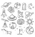 doodle space images vector image