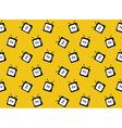 Retro tv web icon Seamless pattern background vector image