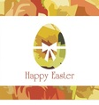 Postcard with easter egg vector image vector image