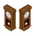 Pendulum clock Elegant roman numeral clock vector image