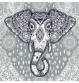 Boho ethnic elephant seamless pattern vector image
