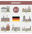 Famous Places cities in German vector image vector image