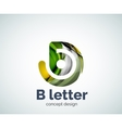 B letter concept logo template vector image
