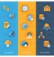 Big data vertical banners set vector image