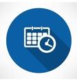 calendar with clock icon vector image