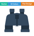 Flat design icon of binoculars vector image