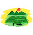 hand drawn thai Farmers vector image