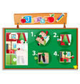 jigsaw puzzle game with postman at home vector image