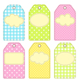 Patchwork tags vector image
