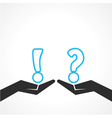 Question mark and exclamatory symb vector image