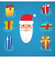 Santa with various presents vector image