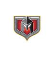 Spartan Helmet Shield Retro vector image