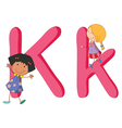 Kids in the letters series vector image